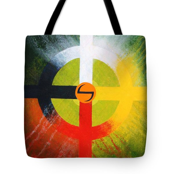 Medicine Wheel Tote Bag by J W Kelly