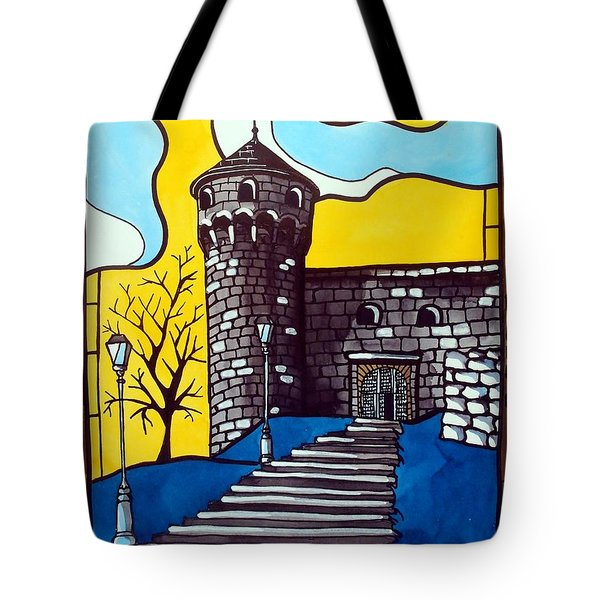 Medieval Bastion -  Mace Tower Of Buda Castle Hungary By Dora Hathazi Mendes Tote Bag by Dora Hathazi Mendes