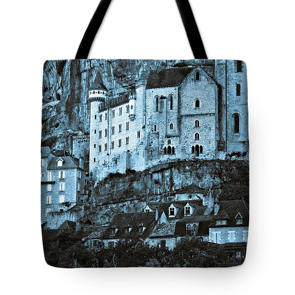 Medieval Castle In The Pilgrimage Town Of Rocamadour Tote Bag