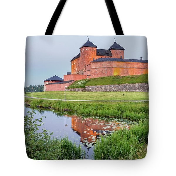 Medieval Castle Tote Bag by Teemu Tretjakov