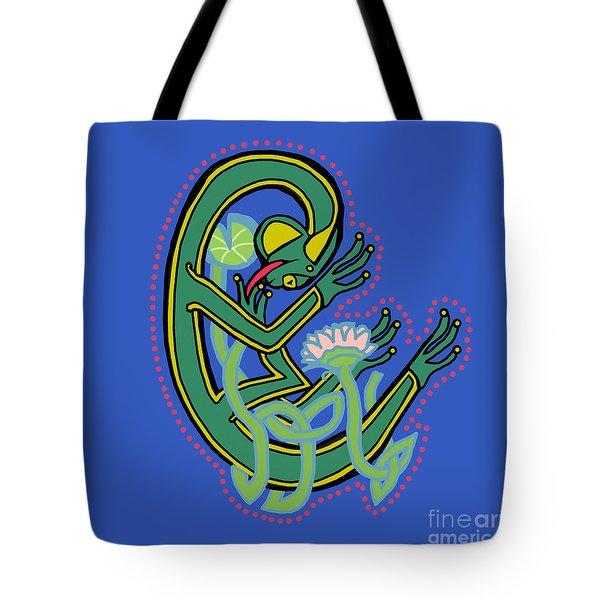 Medieval Frog Letter C Tote Bag
