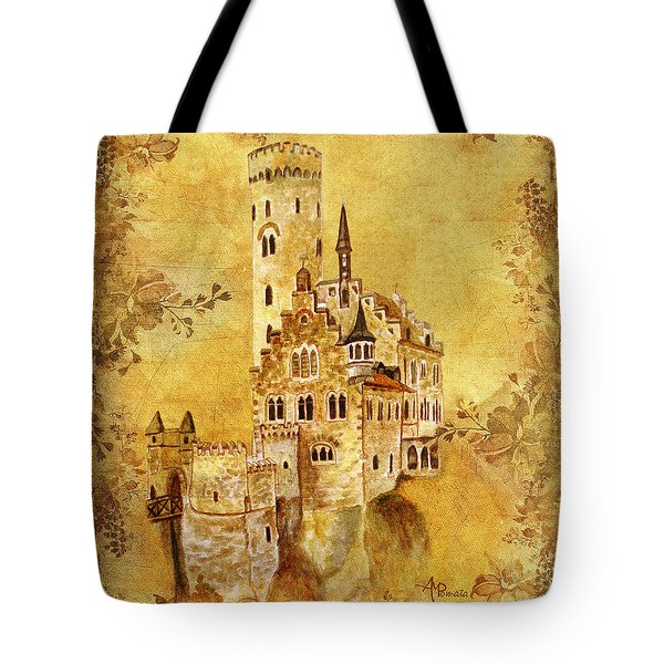 Medieval Golden Castle Tote Bag