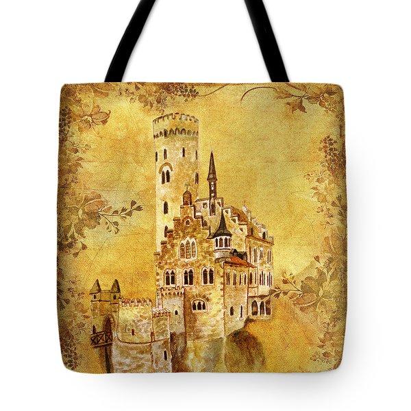 Medieval Golden Castle Tote Bag