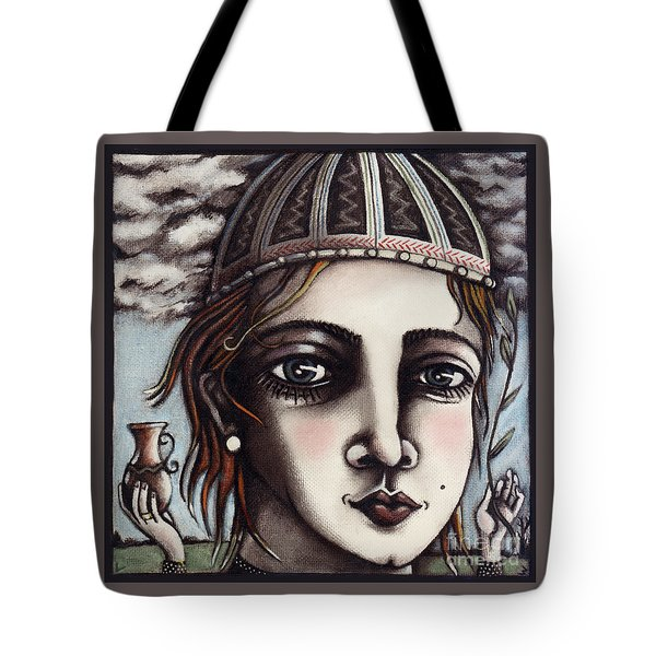 Tote Bag featuring the painting Medieval Herbalist by Valerie White