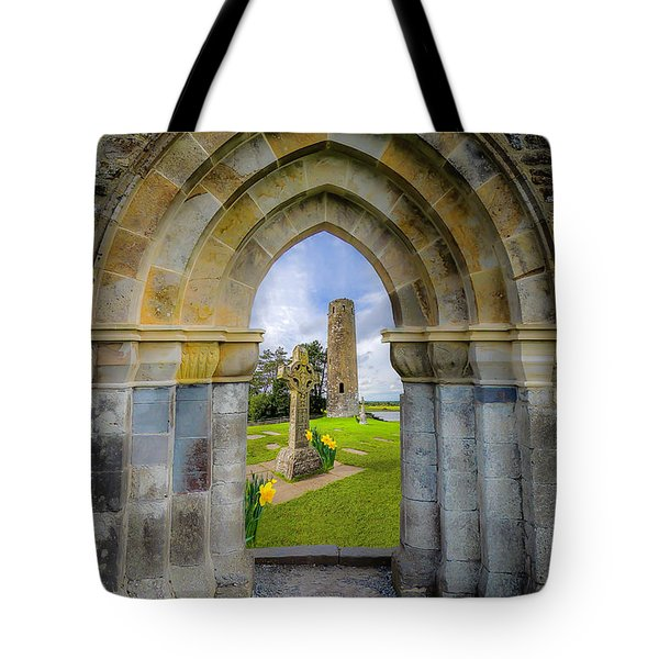 Tote Bag featuring the photograph Medieval Irish Countryside by James Truett