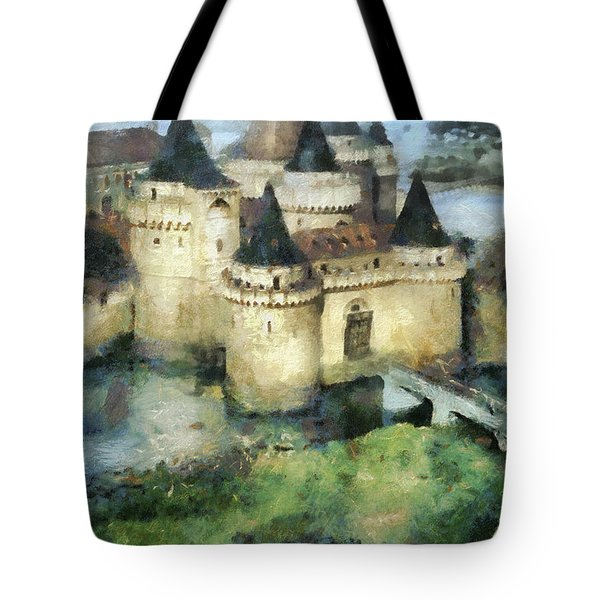 Medieval Knight's Castle Tote Bag