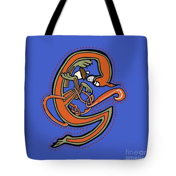 Medieval Squirrel Letter G Tote Bag