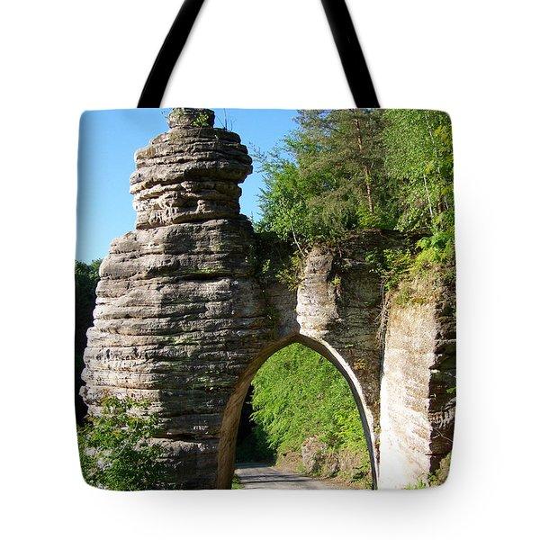 Medieval Stone Gate Tote Bag
