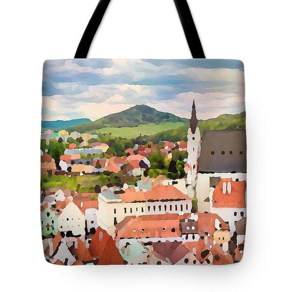 Medieval Village  Tote Bag
