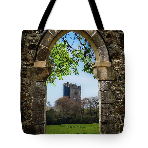 Tote Bag featuring the photograph Medieval Vista Of Dysert O'dea Castle by James Truett
