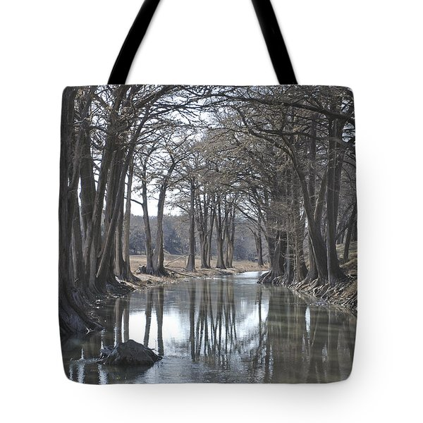 Medina River In Winter Tote Bag