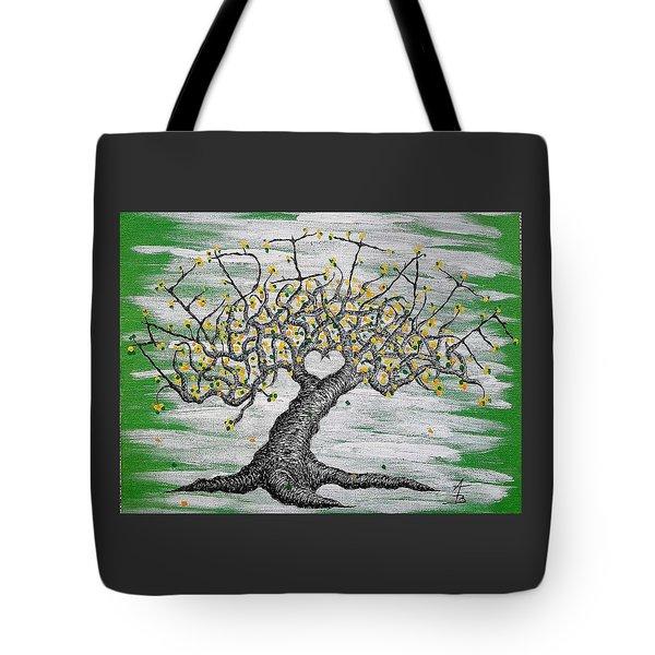 Meditate Love Tree Tote Bag