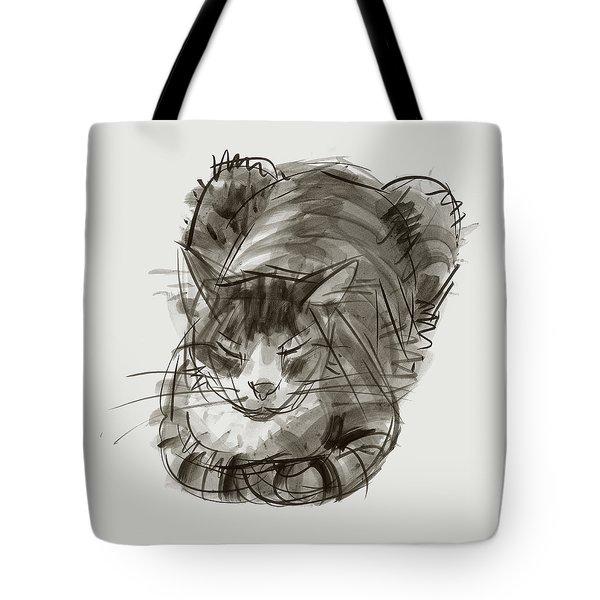 Meditating Cat Tote Bag