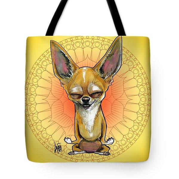 Meditating Chihuahua Tote Bag