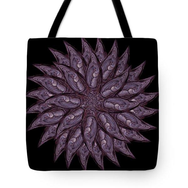Meditating Monks In Lavender Kaleidoscope Tote Bag