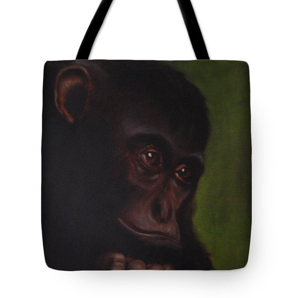 Tote Bag featuring the painting Meditation by Annemeet Hasidi- van der Leij