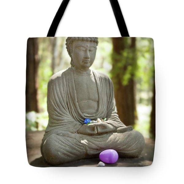 Tote Bag featuring the photograph Meditation Buddha With Offerings by Carol Lynn Coronios