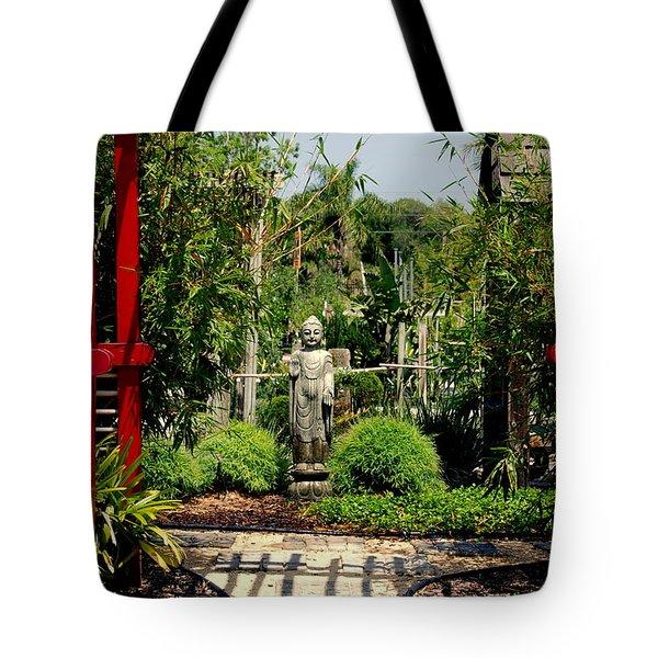 Meditation Garden Tote Bag by Susanne Van Hulst