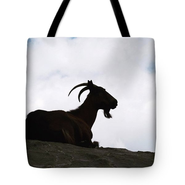 Meditation Goat Up In The Picos De Tote Bag