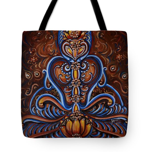 Tote Bag featuring the painting Meditation by Harsh Malik