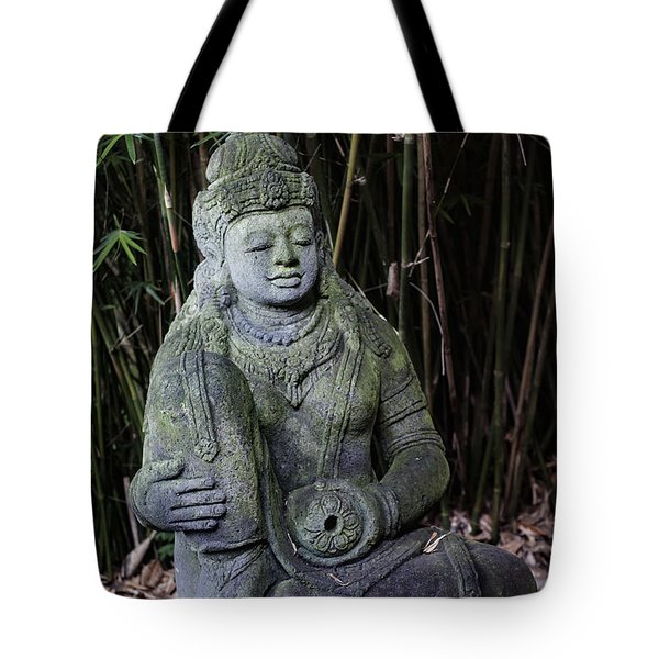 Meditation In The Bamboo Forest Tote Bag by Andy Crawford