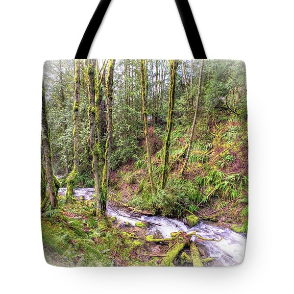 Meditation In The Woods Tote Bag by Spencer McDonald