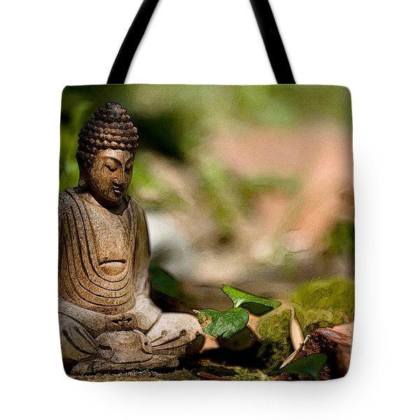 Tote Bag featuring the photograph Meditation by Jean Bernard Roussilhe