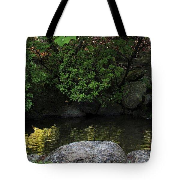 Meditation Pond Tote Bag