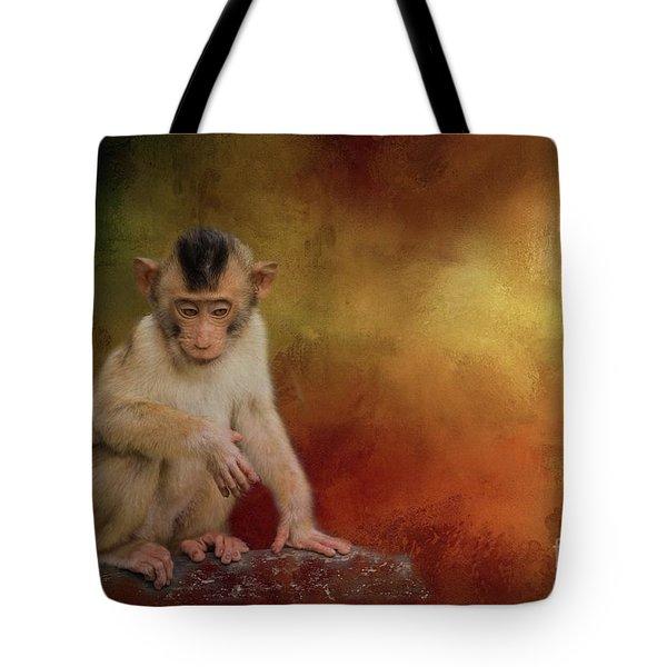 Meditative Tote Bag by Eva Lechner