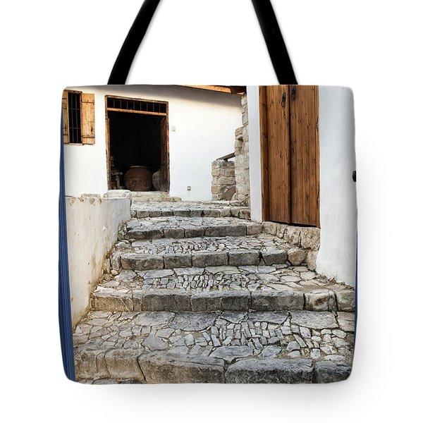 Mediteranean Old House Tote Bag