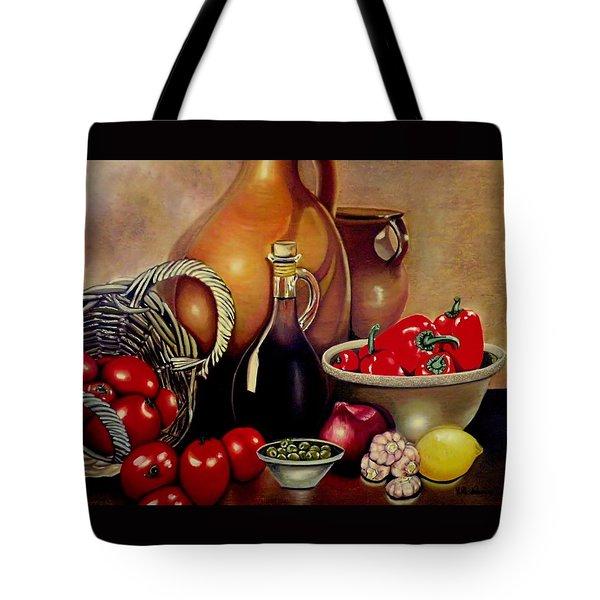 Mediterranean Appetite Tote Bag