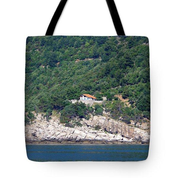 Mediterranean House Tote Bag