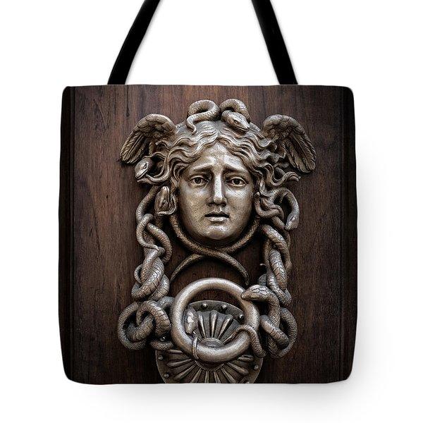 Medusa Head Door Knocker Tote Bag by Edward Fielding