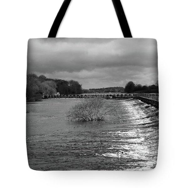Meelick Weir Tote Bag