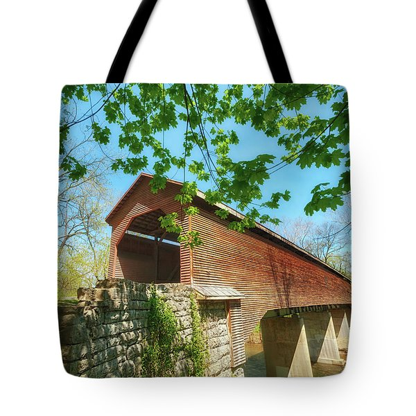 Meem's Bottom Bridge In Spring Tote Bag