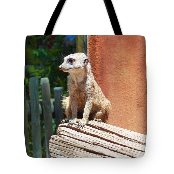 Meerkat Sentry Tote Bag