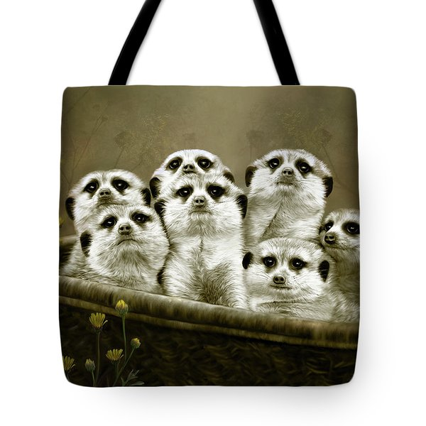 Meerkats Tote Bag by Thanh Thuy Nguyen