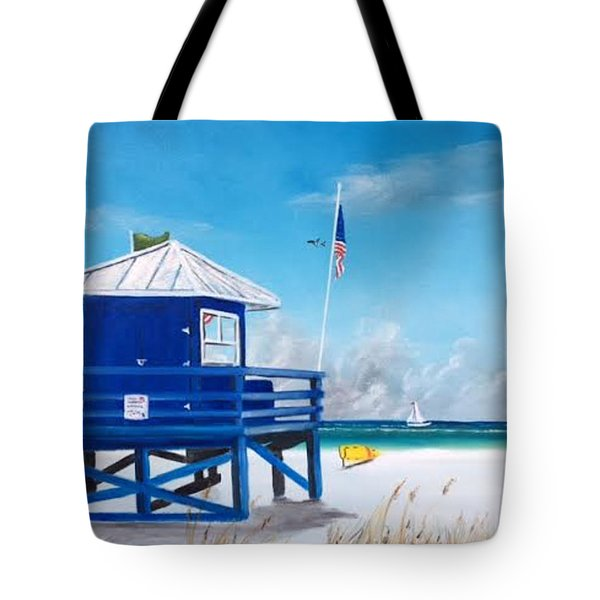 Meet At Blue Lifeguard Tote Bag