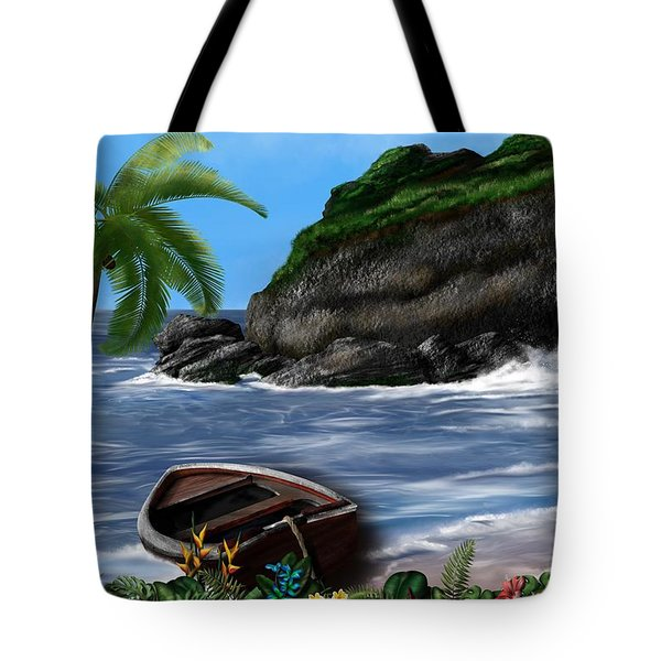 Tote Bag featuring the digital art Meet Me At The Beach by Mark Taylor