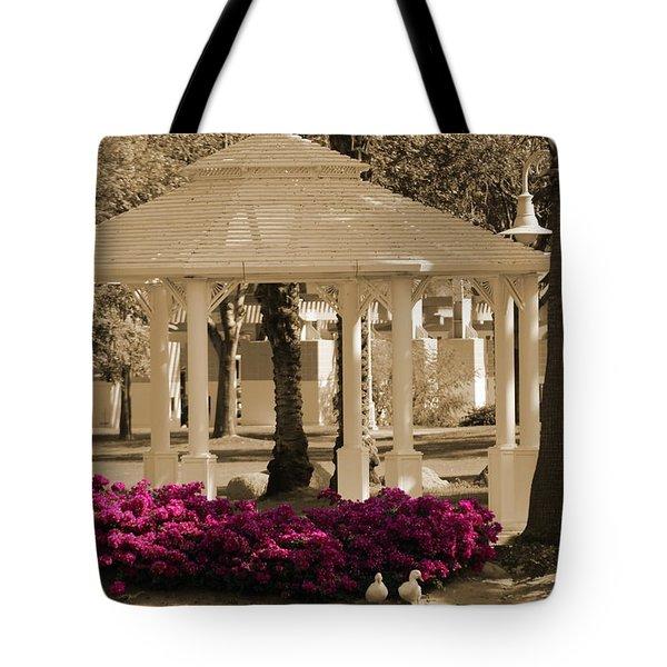 Meet Me At The Gazebo Tote Bag