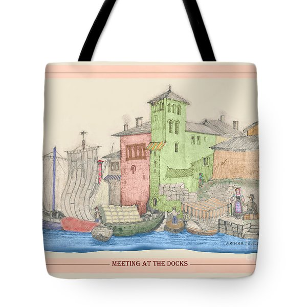 Meeting At The Docks Classic Tote Bag by Donna Munro