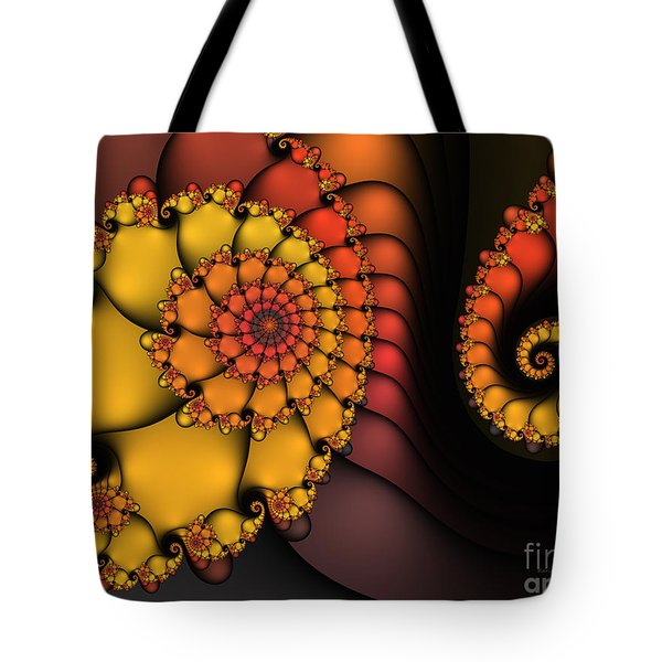 Tote Bag featuring the digital art Meeting by Karin Kuhlmann