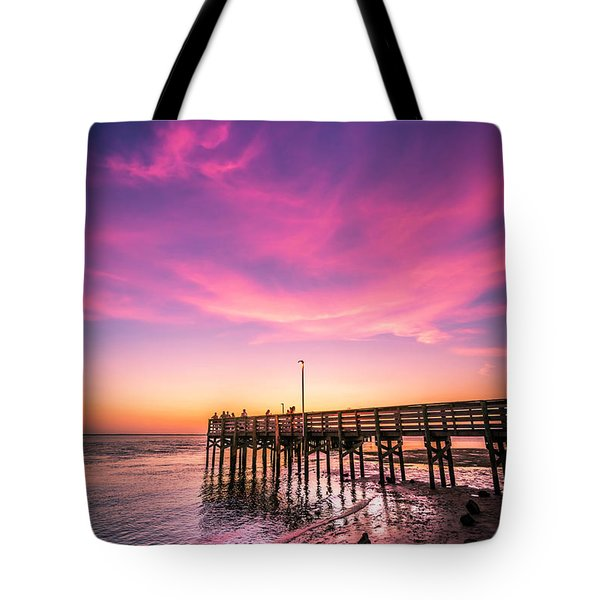 Meeting On The Pier Tote Bag