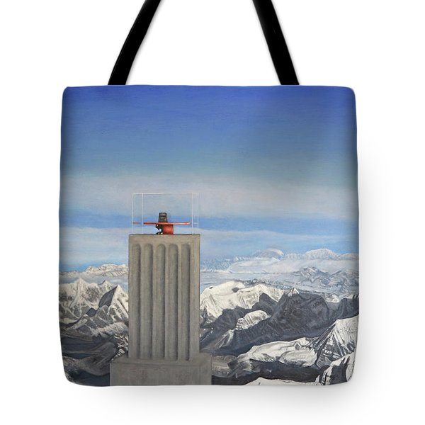 Meeting Table Oil On Canvas Tote Bag