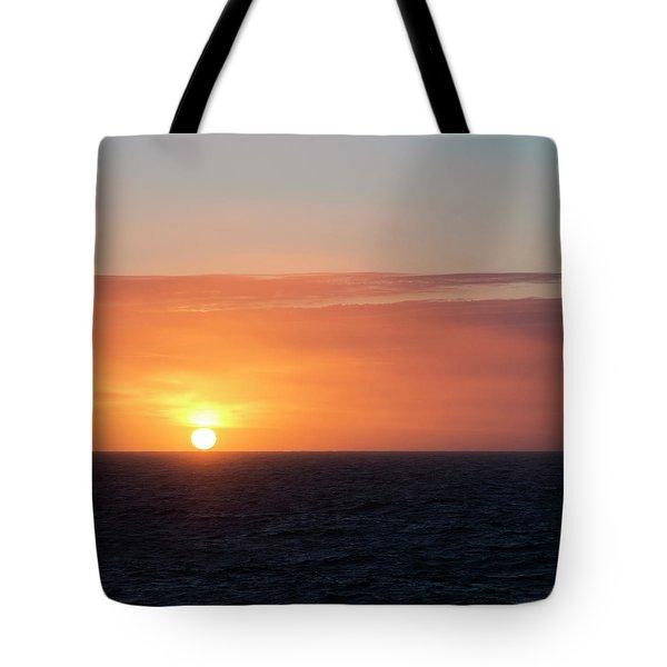 Meeting The Horizon Tote Bag
