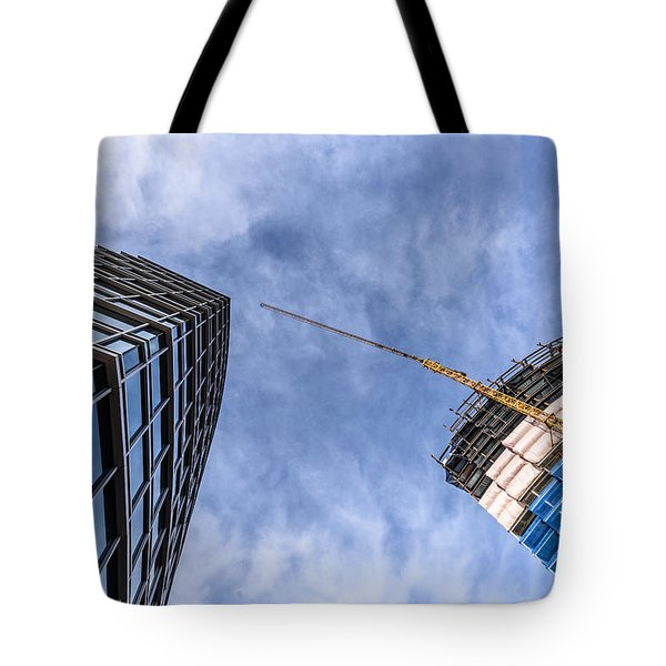 Meeting The New Neighbor Tote Bag by Randy Scherkenbach