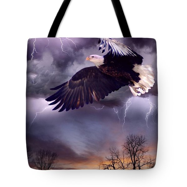 Meeting The Storm Tote Bag by Bill Stephens