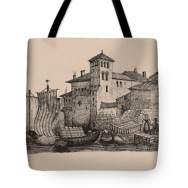 Meetings At The Dock Tote Bag