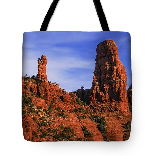 Tote Bag featuring the photograph Megalithic Red Rocks by Mark Myhaver