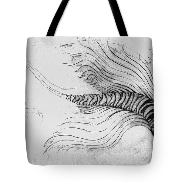 Tote Bag featuring the drawing Megic Fish 3 by James Lanigan Thompson MFA